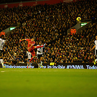 Football - Liverpool v Norwich City - Barclays Premier League - Anfield - 4/12/13 Liverpool's Luis Suarez scores their first goal Mandatory Credit: Action Images / Paul Currie Livepic