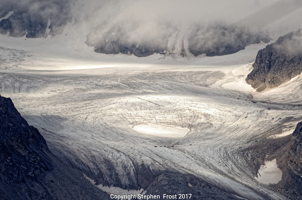 Alien looking but natural landscape in a remote glacier in Svalbard.<br /> <br /> Svalbard, formerly known as Spitsbergen, is a Norwegian Archipelago in the Arctic Ocean.