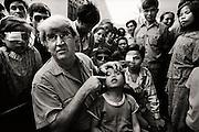 Professor Fred Hollows in Vietnam 1992.