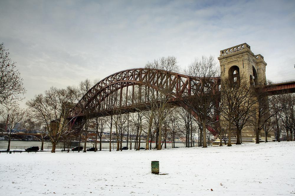 Hellgate Bridge on a winters day.