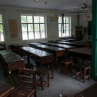 XUZHOU, JULY 22: one of the old classrooms in the No. 1 Middle school in Xuzhou.