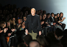 FEB 13 2013 Designer Michael Kors at the end of his New York A/W 13 show