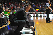 Texas A&M head coach Billy Kennedy argues a non-call in Oxford, Miss. on Wednesday, February 27, 2013. (AP Photo/Oxford Eagle, Bruce Newman)