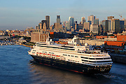 The MAASDAM arriving in Montreal, Quebec, Canada