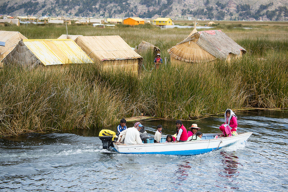 South America, Peru, Lake Titicaca, Suasi Island,uros village