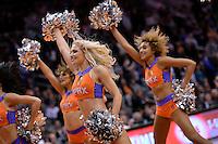 Jan 6, 2016; Phoenix, AZ, USA; Phoenix Suns cheerleaders perform during the game against the Charlotte Hornets at Talking Stick Resort Arena. The Phoenix Suns defeated the Charlotte Hornets 111-102. Mandatory Credit: Jennifer Stewart-USA TODAY Sports