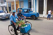 Flower delivery in Moron, Ciego de Avila, Cuba.