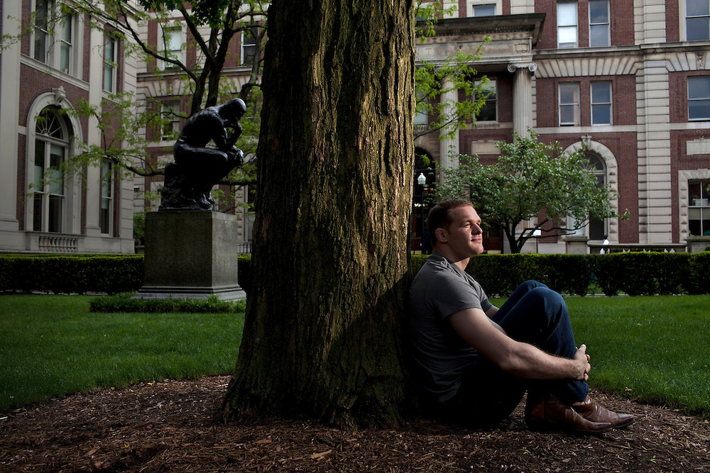 Assistant wrestling coach of the Columbia University's wrestling team, Hudson Taylor at Columbia University in Manhattan, NY on May 20, 2013. Taylor has been one of very few athletes who have supported the LGBT community, even though he himself is straight.