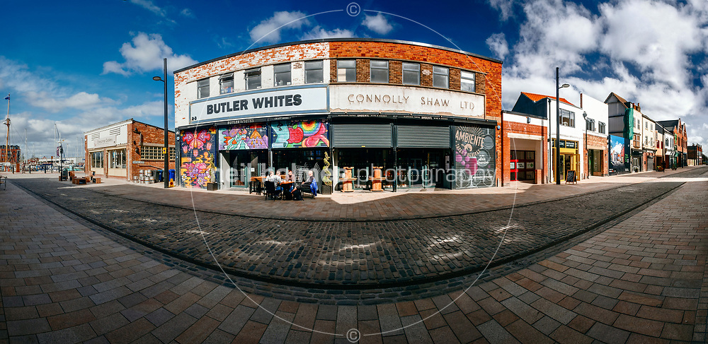 Humber Street, Kingston Upon Hull, East Yorkshire, United Kingdom, 05 April, 2017. Pictured: Butler Whites