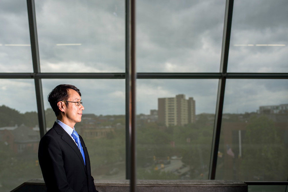 Baltimore, Maryland - July 21, 2014: <br /> <br /> Samuel Hoi, the president of MICA is photographed in front of the Brown Center.<br /> <br /> U.S. culture has a stereotype about &quot;starving artists,&quot; and high priced art colleges like MICA might not seem to some like a good return on investment.<br /> CREDIT: Matt Roth