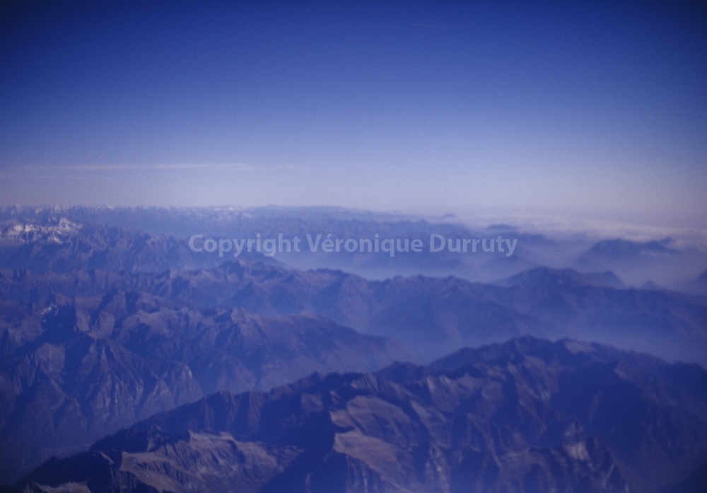 THE ALPS. VIEW FROM ABOVE. FRANCE