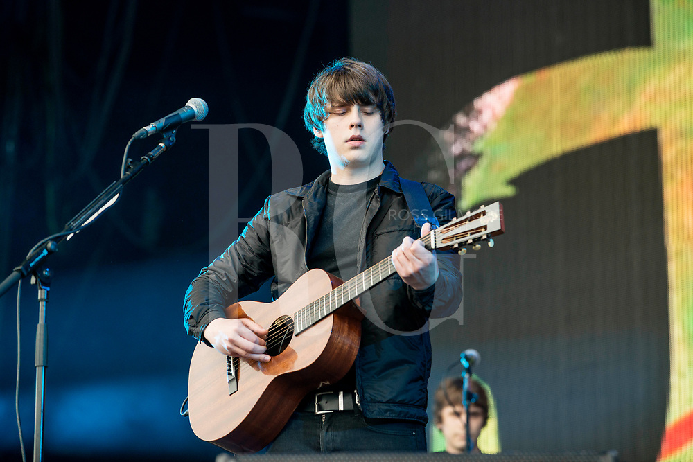 Jake Bugg performs at the Radio 1 stage on Day 3 of the T in the Park festival at Strathallan Castle on July10, 2016 in Perth, Scotland.