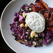 Kale salad with roasted cauliflower, prosciutto, and burrata at Abigail's Grille and Wine Bar, Conn., Saturday, Feb. 20, 2016. (Jessica Hill for the New York Times)