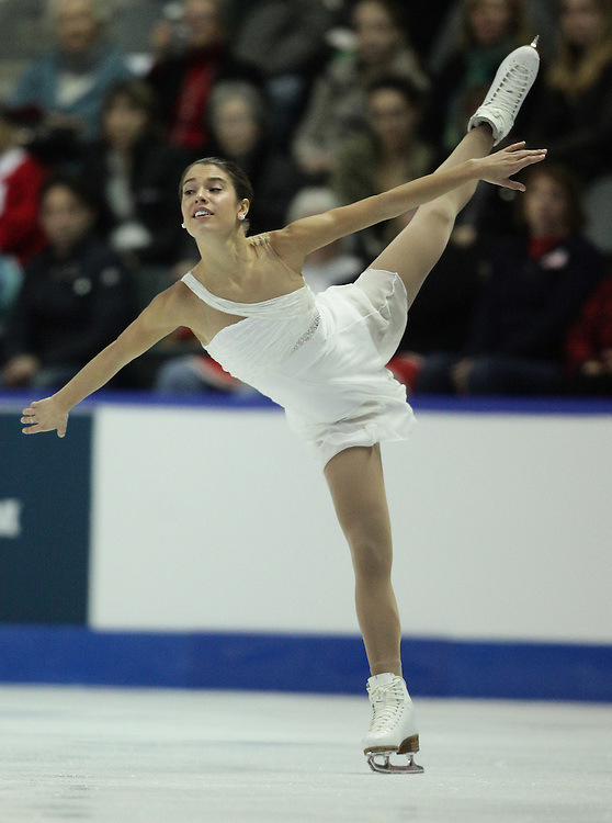 20101029- Kingston, Ontario,Canada--  Alissa Czisny of the United States skates her short program at Skate Canada International in Kingston, Ontario, Canada, October 29, 2010.<br /> AFP PHOTO/Geoff Robins