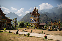 Pagoda along Road 13 to Vang Vieng, Vientiane Province, Laos, Southeast Asia
