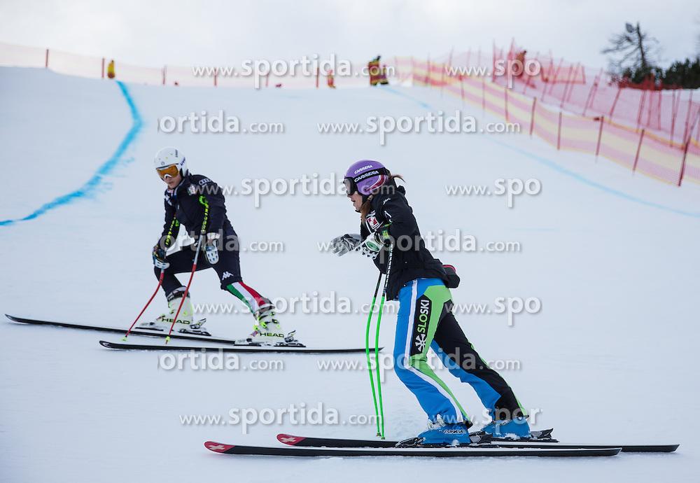 11.01.2014, Kalberloch, Zauchensee, AUT, FIS Ski Weltcup, Abfahrt, Damen, Streckenbesichtigung, im Bild Tina Maze (SLO) // Tina Maze of Slovenia during course inspection of ladies downhill of the Altenmarkt Zauchnesee FIS Ski Alpine World Cup at the Kaelberloch course in Zauchensee, Austria on 2014/01/11. EXPA Pictures © 2014, PhotoCredit: EXPA/ Johann Groder