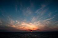 Sunset from the Lerwick to Aberdeen ferry, Shetland, Scotland..Pic by Alex Hewitt.07789 871540.alex.hewitt@gmail.com