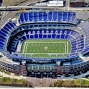 Aerial View M&T Stadium home  of the Baltimore Ravens ([Julia Robertson]/via AP Images)