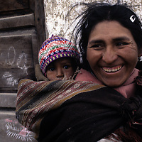 Woman and child in the Bolivian altiplano.