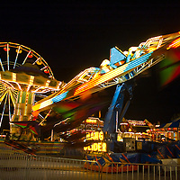 New York state fair at night