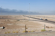The road between the airport and the city center on Thursday, October 21, 2010 in Basrah, Iraq.