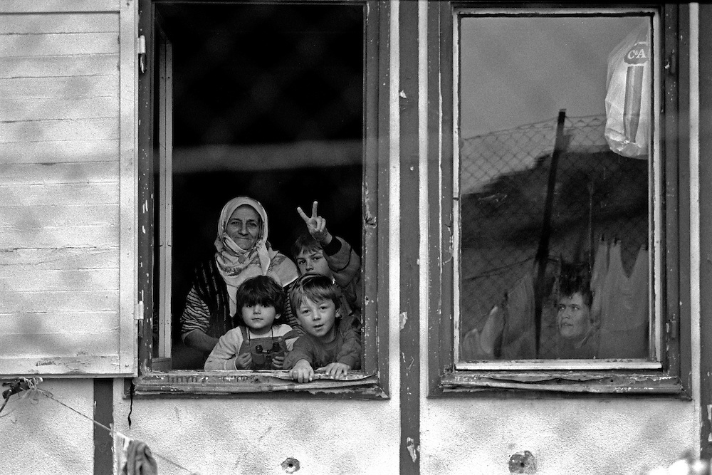 People at the refugee camp Varazdin located in Croatia where I volunteered during the conflict in former Yugoslavia.