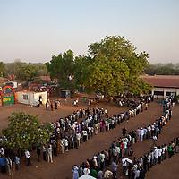 Crowds line up for the first day of voting for Southern Sudan's referendum for separation on Jan. 9. 2011 in Juba.