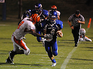 Water Valley's Cole Camp (4) vs. Calhoun City in Water Valley, Miss. on Friday, September 2 2011. Calhoun City won 16-14..