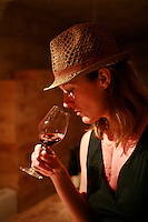 tasting wine in a cave in Chateauneuf-des-Papes, Provence