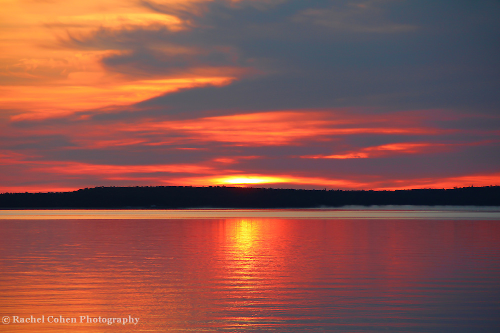 &quot;Shimmer&quot;<br /> <br /> Beautiful hues and shimmering glows in a lovely sunrise image over Lake Huron in Michigan's Upper Peninsula!<br /> <br /> Sunrise Images by Rachel Cohen