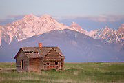 A homestead in front of the Mission Mountains of Western Montana