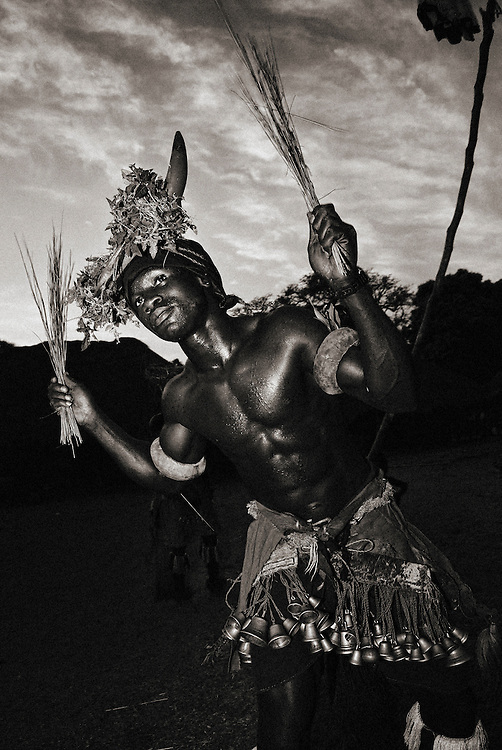 Bijagos Islands in Guinea Bissau, traditional dance and mask