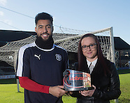 08-02-2016 Kane Hemmings - Ladbrokes Premiership player of the month