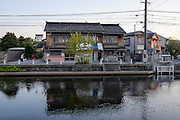 Canal leading to the sea in Matsue city