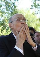 Portuguese Nobel writer Jose Saramago during a homage from saramago's home village Azinhaga (Goleg&Atilde;&pound;)<br /> Foto Paulo Cunha