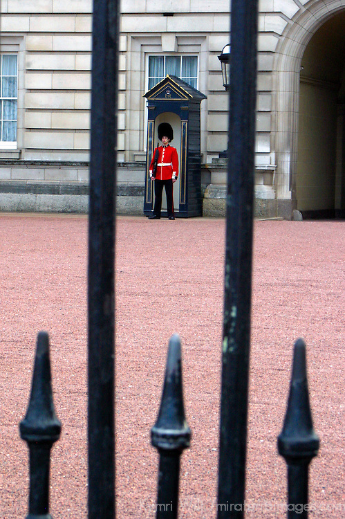 United Kingdom, Great Britain; England; London. Buckingham Palace Guard.