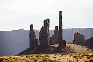 Three Sisters. Rock formation in Monument Valley.