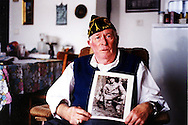 Bill Coleman, in his flat in Normandy in June 2004, American D-Day veteran. He died at the age of 81 in July 2005