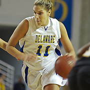 All American Junior Forward and Captain (#11) Elena Delle Donne power her way to the boards scoring 2 of her game high 36 points as The Lady Blue Hens Defeat The Lady Retrievers of UMBC 59-44 at the The Bob Carpenter Center In Newark...The Lady Hens is 1-0 and will face Big East power Villanova Next.