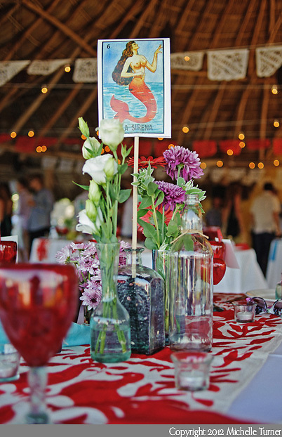 Mexican Lottery Centerpieces. Courtney and Storm's Sayulita Wedding at ...