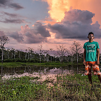 Portrait shoot of Decko on the other side of the Madeira river from Borba, Brazil Sunday June 14, 2015.  Photo Ken Cedeno