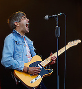 Keith Murray of We Are Scientists performs live on the main stage during day one of the Isle of Wight Festival 2011 at Seaclose Park on June 10, 2011 in Newport, Isle of Wight.  (Photo by Simone Joyner)