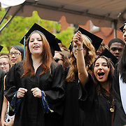 05/19/2013 - Medford, MA - Members of the Tufts Acapella group sing during Sunday morning Tufts University 157th Commencement ceremony held on the Medford/Somerville campus, on May 19, 2013. (Matthew Modoono for Tufts University)