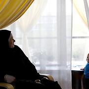 Arhus, Denmark, May 4, 2010.Charlotte, danish, converted to islam.