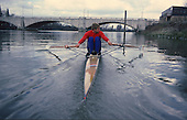 1988 Steve REDGRAVE Training for the Scullers Head. LONDON