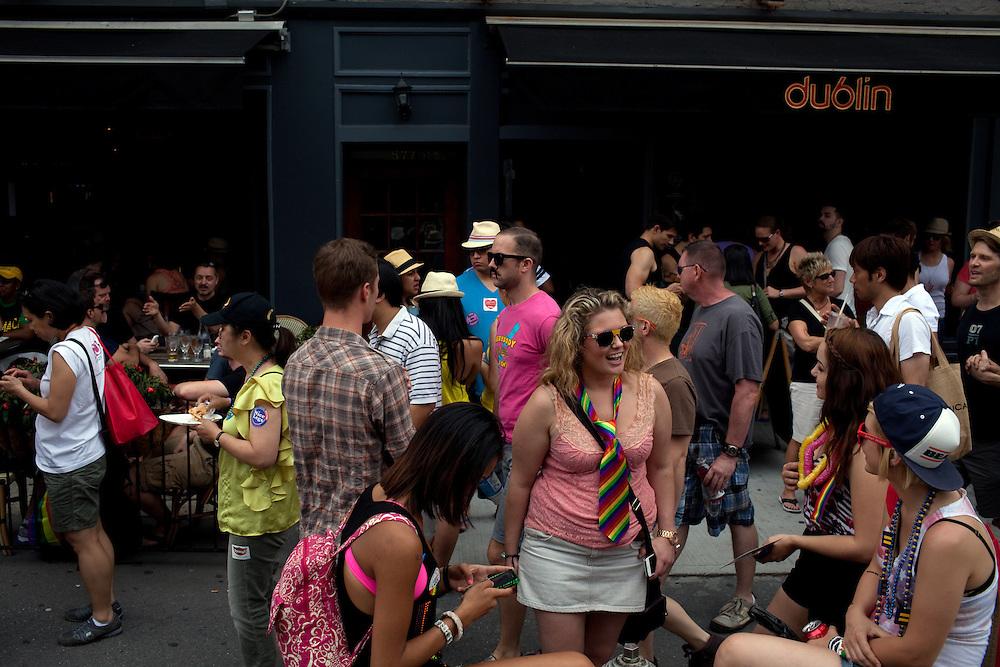 An Irish pub in Chelsea, New York on June 24, 2012.