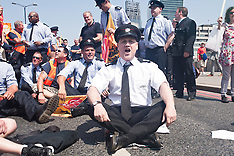 JULY 18 2013 Protest march against London Fire Brigade cuts