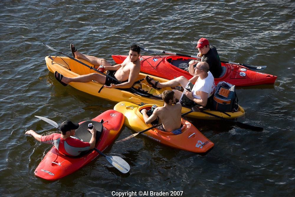 Boating on Lady Bird Lake, Austin, Texas