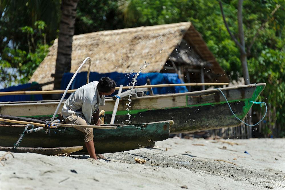 Local fishing boats, Sausu Peore, Central Sulawesi, Sulawesi, Indonesia.