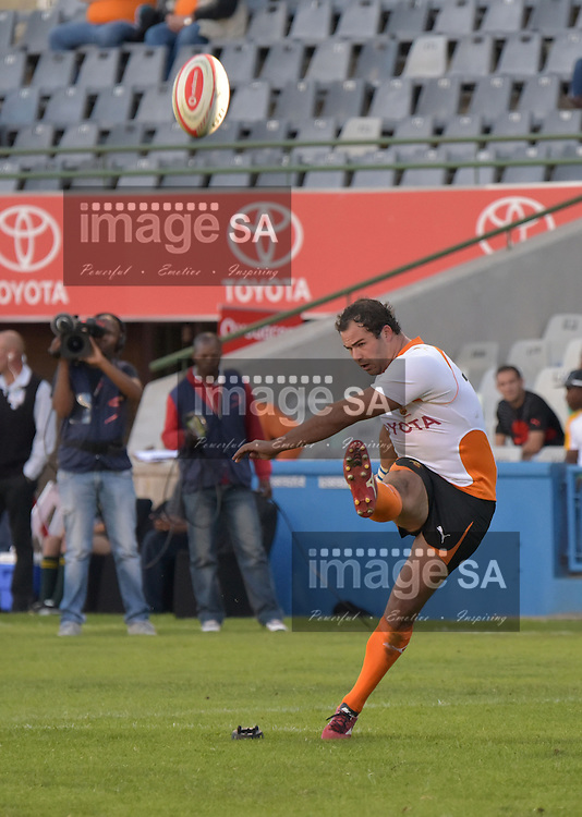BLOEMFONTEIN, SOUTH AFRICA - Saturday 18 April 2015,  during the Vodacom Cup rugby match between Toyota Free State XV and EP Kings at the Free State Stadium, Bloemfontein.Daniel Marais Flyhalf of Toyota Free State XV<br /> Photo by Charl Devenish/ImageSA/ SARU